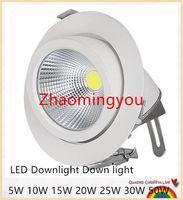 Justierbares 5W 10W 15W 20W 25W 30W 50W PFEILER Stammlampe LED Downlight Downlight Lampe vertieftes super helles Innenlicht 85 ~ 265V CER RoHS