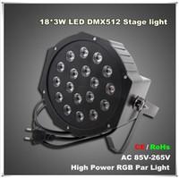 L'alto potere 18 * 3W ha condotto la luce di parità di RGB La luce DMX512 principale principale ha condotto il regolatore piano delle attrezzature per la discoteca di KTV del partito del DJ