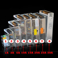 Verlichtingstransformatoren LED-voedingen 30A 25A 20A 15A 12.5A 10A 8.5A 6.5A 5A 2A 12 V Supply-chauffeurs Hoge kwaliteit