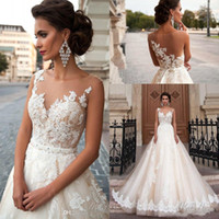 Vintage Arabic Princess Milla Nova Wedding Dresses Lace Turk...