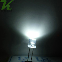 1000pcs 5mm 백색 편평한 최고 LED 가벼운 램프는 다이오드 5mm 편평한 최고로 밝고 넓은 각 LED를지도했다
