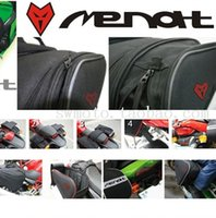 MEMAT Impermeable Motocicleta Negro Saddle Bags Multifunción Motos Equipaje Universal Double Seat Tail Pack Riding bag