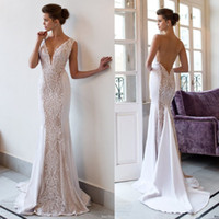 Riki Dalal 2018 Mermaid Vintage Wedding Dresses Backless Dee...