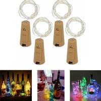 Weinflasche Kork Fairy Lichter Flasche Stopper LED String 1m 2m Silber Draht String Lights Batteriebetriebene Weihnachten Hochzeit Dekor