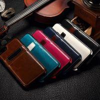 Dla iPhone 6 6S plus Huawei P8 Luksusowy Retro Skórzany TPU Wróć obudowy pokrywy z gniazdami karty kredytowej do Galaxy S6 S7
