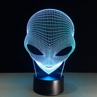 2017 alien Man 3D Illusion Night Lamp 3D Optical Lamp AA Bat...