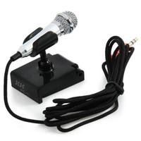 Mini Kondenser Mikrofon Karaoke Ses Kayıt Cep Telefonu Bilgisayar Sing Akıllı Telefonlar Dizüstü Bilgisayarlar Için Minyatür Mic Mikrofon