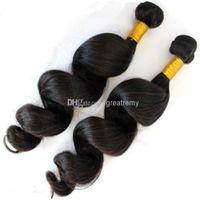 European Virgin Hair The Bella Cheveux Produits 2PCS / Lot Remy Human Hair Traps Libre Vague GrealeMy Drop Expédition Couleur naturelle Dyableable
