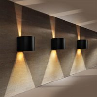 L44- Outdoor waterproof wall lamp square semi- circular adjust...