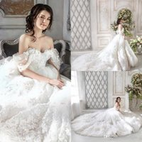 Luxury Lace Ball Gown Wedding Dresses Monique Lhuillier Off ...