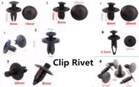 Nylon negro remaches Clips Parachoques y guardabarros Clips sujetadores tipo de empuje para auto coche surtido tamaño 6 mm / 8 mm