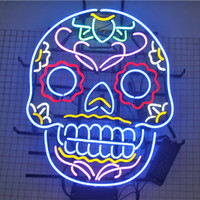 24 * 20 polegadas em forma de Crânio DIY Luz LEVOU Sinal de Néon Flex Corda Luz LED Indoor / Outdoor Decoração RGB Voltage 110 V-240 V