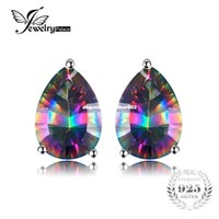 earrings genuine topaz designer silver sterling oval products shape mystic