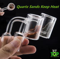 Scambiatore termico al quarzo con sabbie al quarzo bel colore mantenere il calore bene 10mm 14mm 18mm doppio tubo al quarzo termico Banger