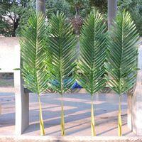 18 قطع كبيرة 104 سنتيمتر اللاتكس الاصطناعي الخيزران النخيل شجرة ورقة فرع في الزفاف عيد الفصح الكنيسة المنزل حديقة الأثاث ديكور الأخضر F666