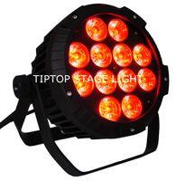 Freeshipping 4 пакета 12 X 18W RGBWA UV LED DJ PAR Light IP65 DMX водонепроницаемый PAR 64 Этап освещения ЖК-дисплей алюминиевого литья TP-P102