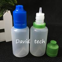 Livraison rapide Childproof Tamper Cap PE bouteille en plastique E liquide 30ml bouteilles avec de longues Conseils mince 30ml vide bouteille pour eJuice