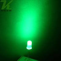1000 pz 5mm giada verde diffuso led lampada di luce led diodi 3mm diffuso giada greenUltra luminoso rotondo led luce spedizione gratuita
