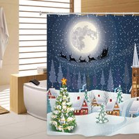 Shower Curtain Christmas Snowtree 3D Printing Shower Curtain...