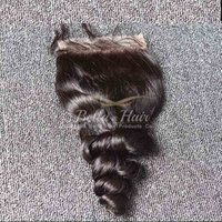 Malaysian Lace Closures Virgin Human Hair Weaves Free Part H...