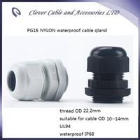 Venta caliente y envío gratis 100PCS / lot IP68 a prueba de agua para conector de cable PG16 Nylon Gland