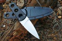Utilitaire FROID ACIER Secret Edge Couteau Fixe 8Cr13Mov 57HRC Camping Tactique Survie Cou Couteau Chasse Poche EDC Outils Xmas Collection