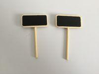 Mini Pentole da giardino in legno Tag Piccola Blackboard Markers Asilo Lavori di plastica di plastica per microlandschaft Tag succulente