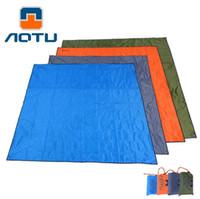 aotu AT6210 215 * 215CM 야외 해변 담요 방습 매트 캠핑 피크닉 바닥 패드 무료 배송