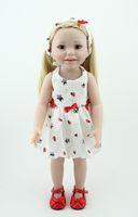 45 cm / 18 pouces poupée de fille américaine à la main en plastique souple reborn bébé jouets poupées pour les cadeaux pour enfants