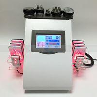 6 In1 Vacuum Ultrasonic Cavitation Body Minceur Machine Laser RF RF LIPOSUCTION DE RADIO FRÉQUENCE Poids FAT Réduire le salon SPA