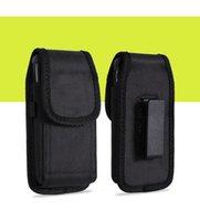 Para galaxy s7 nota 5 esporte universal nylon coldre de couro clipe de cinto bolsa de telefone case capa para iphone 6 5.5 polegadas