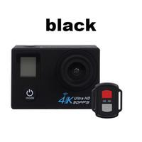 2021-핫 세일 추가 2.4G 원격 H22R 4K 와이파이 액션 카메라 2 인치 170D 렌즈 듀얼 스크린 30M 방수 익스트림 스포츠 카메라 HD DVR 카메라