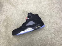 With OG Box 5s 5 black metallic 2016 released men women bask...