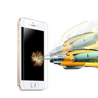 Vidrio templado de primera calidad para iPhone 4 5 6 6 más 7 8 8 Plus X Protector de pantalla 0.26mm Película de prueba Envío gratis