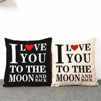 "18 X 18"" I Love You to the Moon and Back Decorative Cot..."