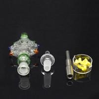 Kits de Ping Pendant com prego de vidro Titanium prego de vidro Wearable Bongos de água da tubulação de água-resfriado e à prova de derramamento de qualidade superior