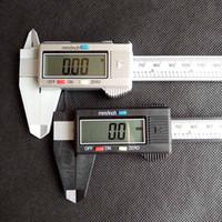 150 мм 6 дюймов ЖК-дисплейные цифровые электронные углеродного волокна Vernier Microomer Microomet Plast Caliper Retail Box черный серебристый цвет
