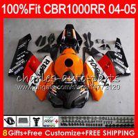 Injektionskörper für Honda CBR1000 RR CBR 1000RR 04 05 Repsol Orange 9No83 100% Fit CBR1000RR 04 05 Bodywork CBR 1000 RR 2004 2005 Verkleidungsset