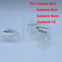 Pirex Substituição Do Tubo De Vidro para ecigarette mini triton griffin rta toptank mini topbox tanque nano tubo de vidro subtanque de vidro atacado