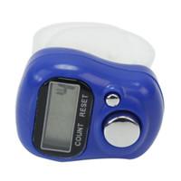 Mini pantalla electrónica digital lcd anillo de dedo de mano de plástico tejer fila contador tally contador temporizador h210825