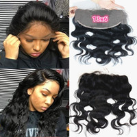 8A Grade Brazilian Human Hair 13X6 Lace Frontal Closure with...