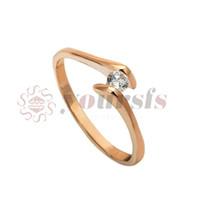 Yoursfs الأزياء والمجوهرات 18 كيلو الذهب مطلي الذهب الزركون الدائري امرأة هدية