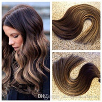 HLhair 100 Gram Per Package Color#4 Brown Tape in Hair Mix W...