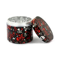 New fashion hip hop 4 layer smoking herb grinder creative sk...