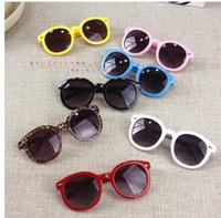 2021 Vintage Redondo Gafas de sol Vidrieras Flecha de cristal Bebé Bebés Niños Niños Gafas de sol Gafas de verano Oculos de Sol Gafas