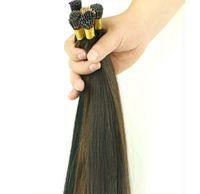 50 г / лот бразильский кератин я кончик наращивание волос 18-24 дюймов человеческие прямые волосы 1 г / шт. Много цвета в наличии