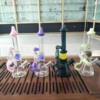 bong glass water pipes Purpler Green Pink 4 colors glass bon...