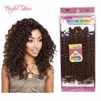 3 unidades / pacote tranças de crochê Sintético 10 polegadas jerry curly twist cabelo sintético trança ombre pré looped savana jerry onda cabelo onda torção