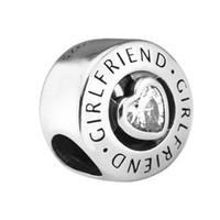 Girlfriend Charm, Clear Cubic Zirconia 2017 Preautunm 925 Sterling Silver Bead Fit Pandora Pulsera Auténtico Encanto