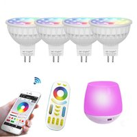Bombillas LED MR16 GU10 CCT RGB Color Regulable (2700K ~ 6500K) MiLight WIFI 2.4G Bulbo Grupo sin hilos del telecontrol Smartphone App Controll Lampara CE ROSH FCC